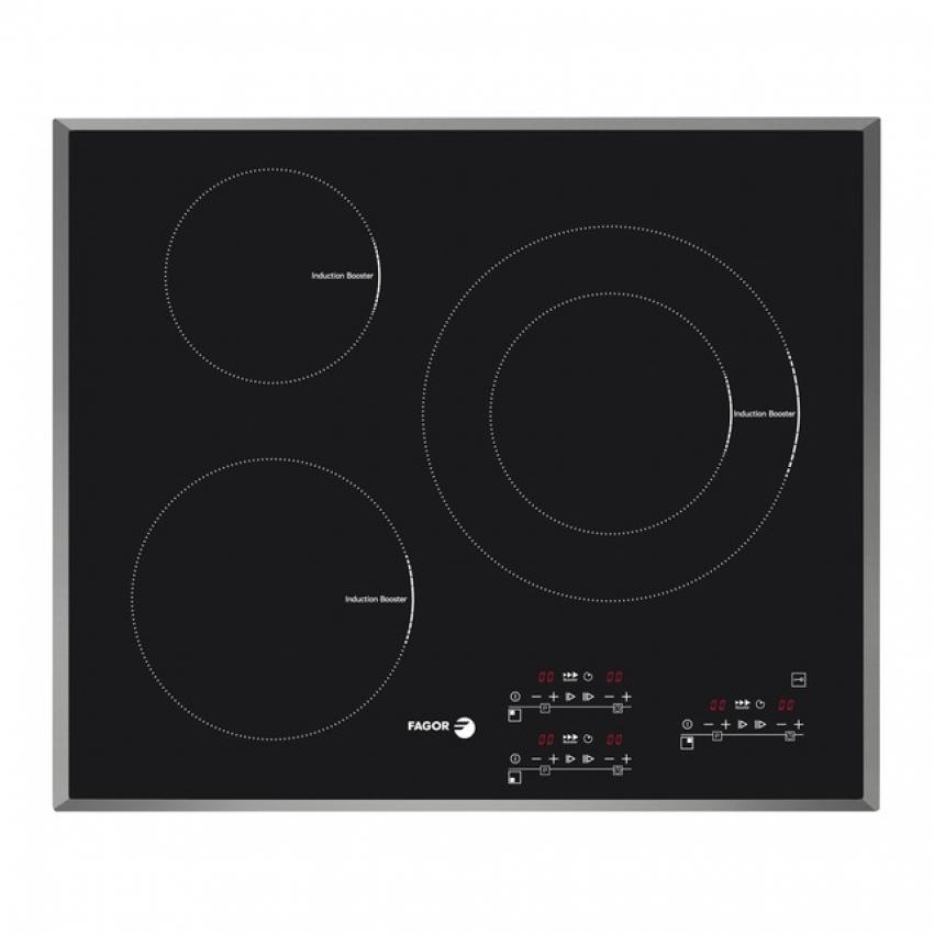 Placa de inducción Fagor IF3CS con 3 zonas de cocción