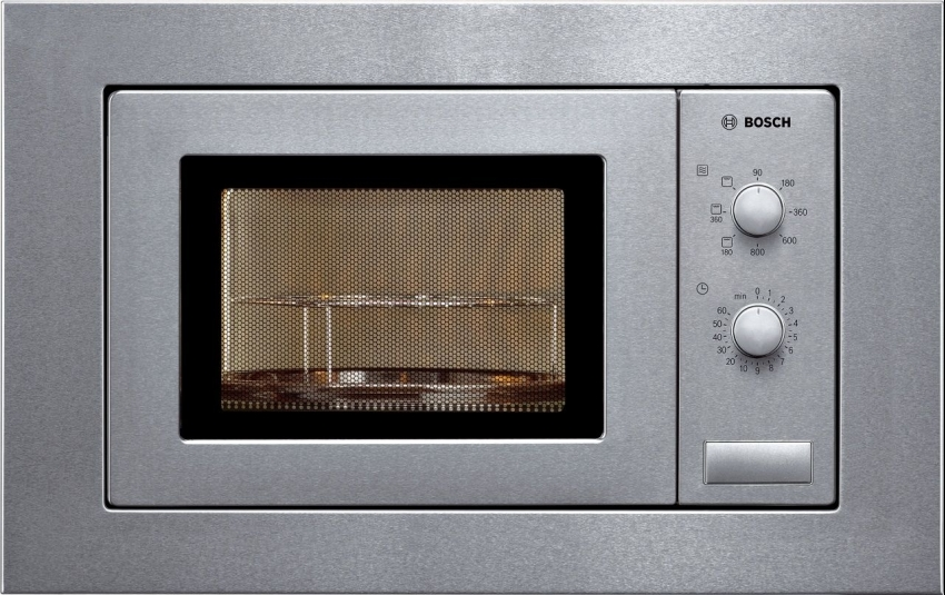 Microondas Bosch HMT72G650, 18L, 800w, grill, inox, temporizador, mecanico, integrable, marco encastre
