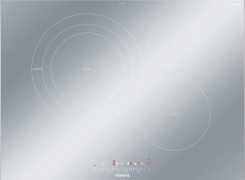 Vitroceramica induccion indep. Siemens EH779FDC1E, Encimera, Inducción, Encastrable, 70cm, 3 zonas, gris metalizado,