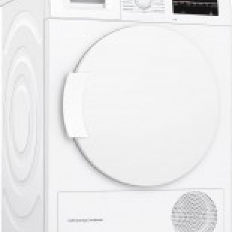 Secadora frontal Bosch WTG87229ES, Bomba de calor, A++, Libre instalacion, 60cm , 8Kg, Blanco, Display LED, Condensador autolimpiante, conexion a desagüe, instalacion bajo encimera en mueble de altura min. 85cm. Pausa+Carga