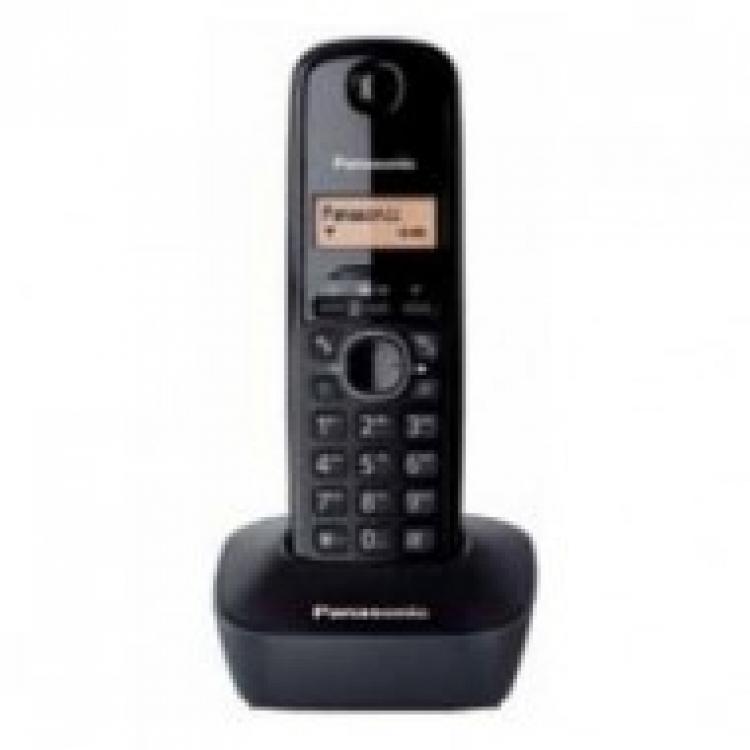 Telefono inalambrico Panasonic KXTG1611SPH, negro, identificador de llamadas, pantalla de 14 segmentos, 50 memorias alfanumericas (TACTICO)