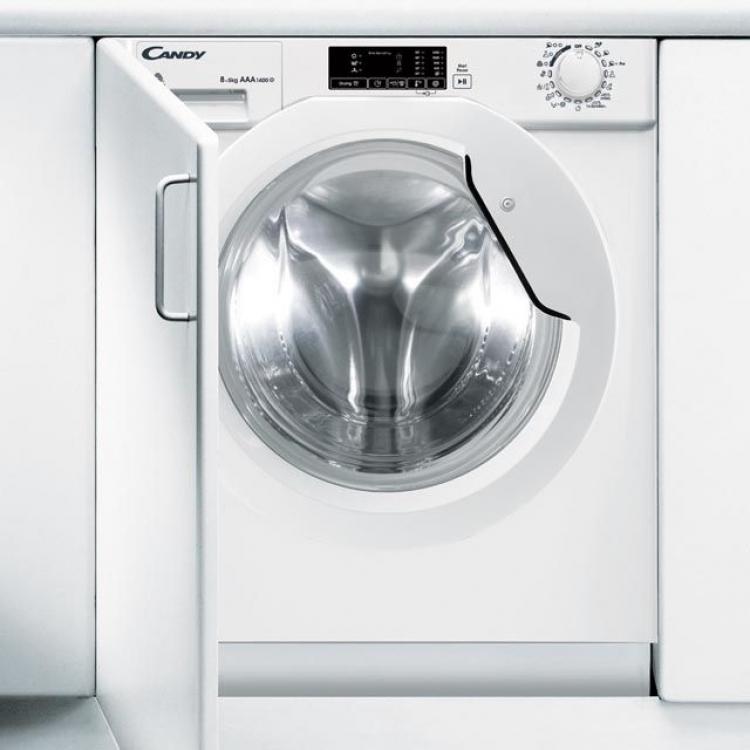 Lavasecadora Candy CBWD8514DS, integrable, 1400rpm, 8kg lavado y 5Kg secado,
