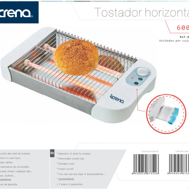 TOSTADOR CRENA HORIZONTAL 600W