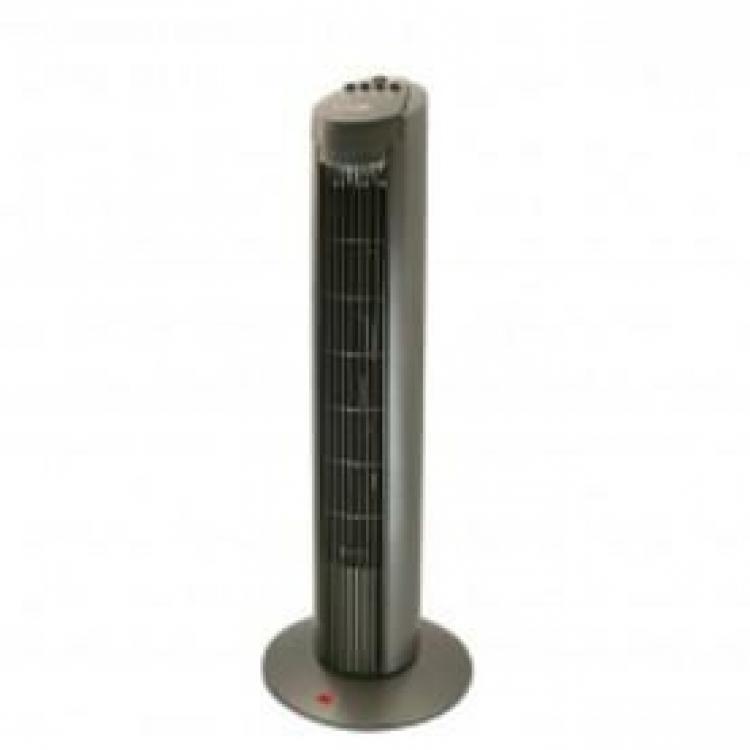 Ventilador Magefesa MGF2380, Hancock, torre, color titanio 50w, altura 75cm, 3 velocidades, funcion oscilante,