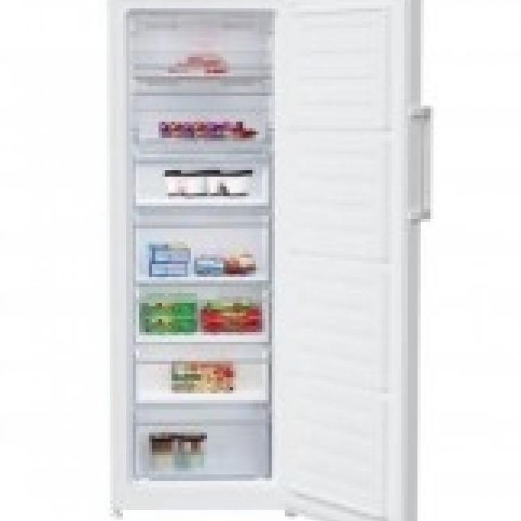 Congelador vertical Beko RFNE290L21W, no frost, 171,4x59.5x65cm, 5cajones+2tapas, A+