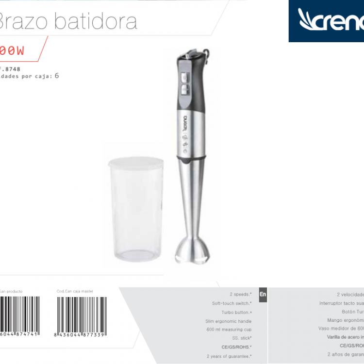 BATIDORA BRAZO CRENA VARILLA 800W