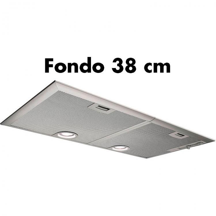 Grupo Filtrante Balay 3BF276NX.Campana modulo integración - FONDO 38 cm]  Ancho: 73 cm - Gris Metalizado  Extracción máxima: 638 m³/h - Potencia sonora nivel 3: 56 dB (A)