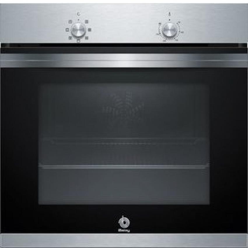 Horno Balay 3HB4000X0.Multifuncion 5  Acero inoxidable/Cristal Negro  Alto: 60 cm