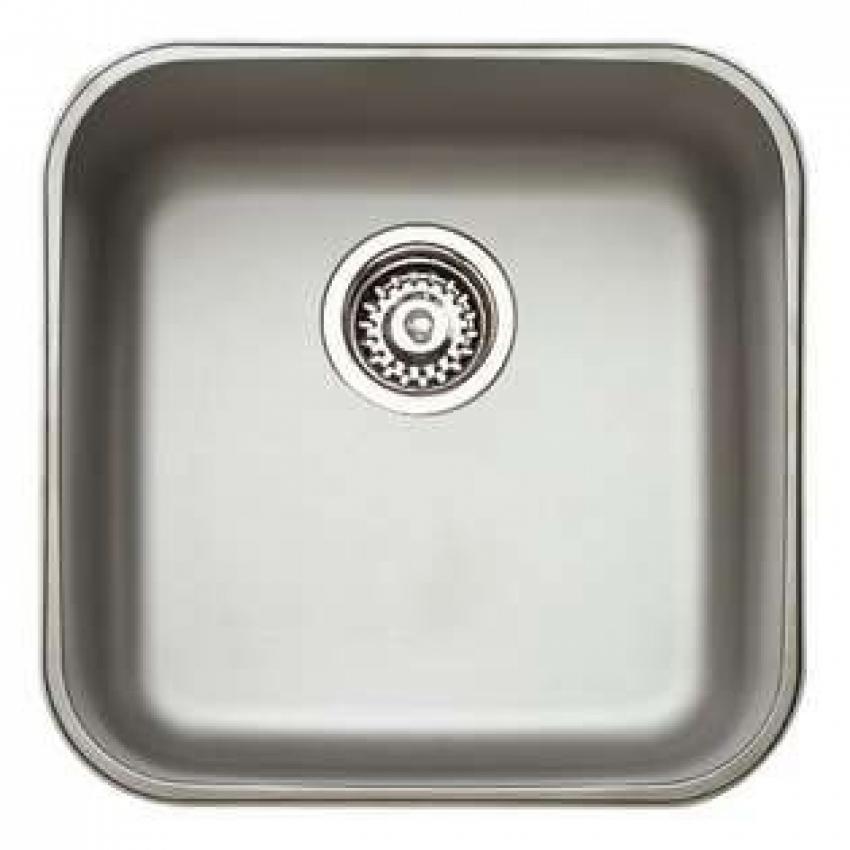 """Fregadero TEKA acero inox 18/10 Bajo encimera, 1 Cubeta, Profundidad cubeta: 180 mm, Valvula canasta 3 ½"""", Mueble 50 cm,"""