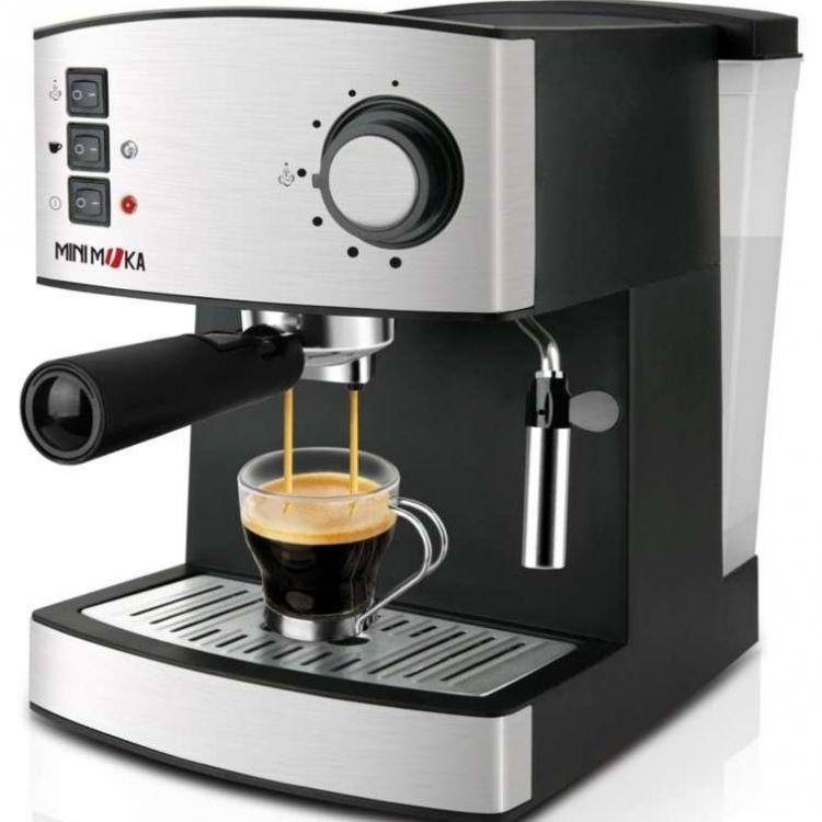 Cafetera expreso con Bomba Presion 15 bar - Potencia 850W Capuccinador para calentar y espumar leche