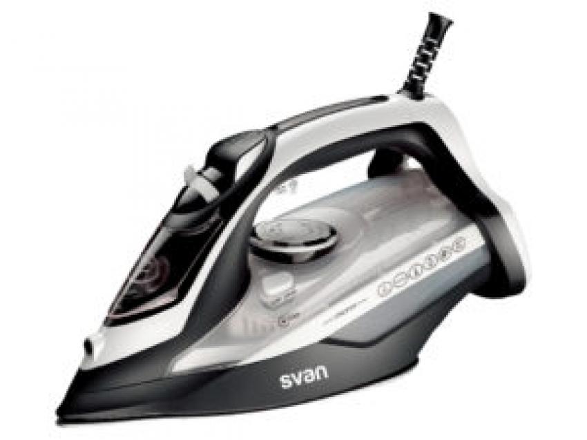 Plancha de vapor Anodized style 28 Negro de Svan SVPL1028AN , suela anodizada, control mecánico, 2800W de potencia, función golpe de vapor y autolimpieza.