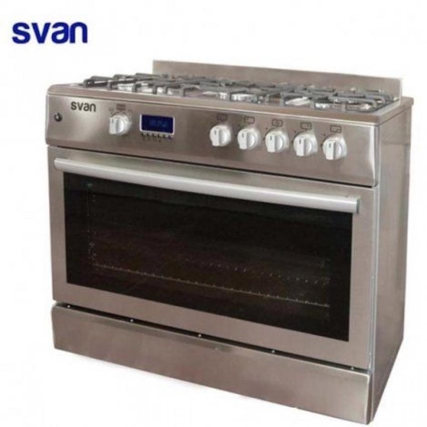 Cocina 5 fuegos 90x60cm gas inox atara for Cocina butano con horno