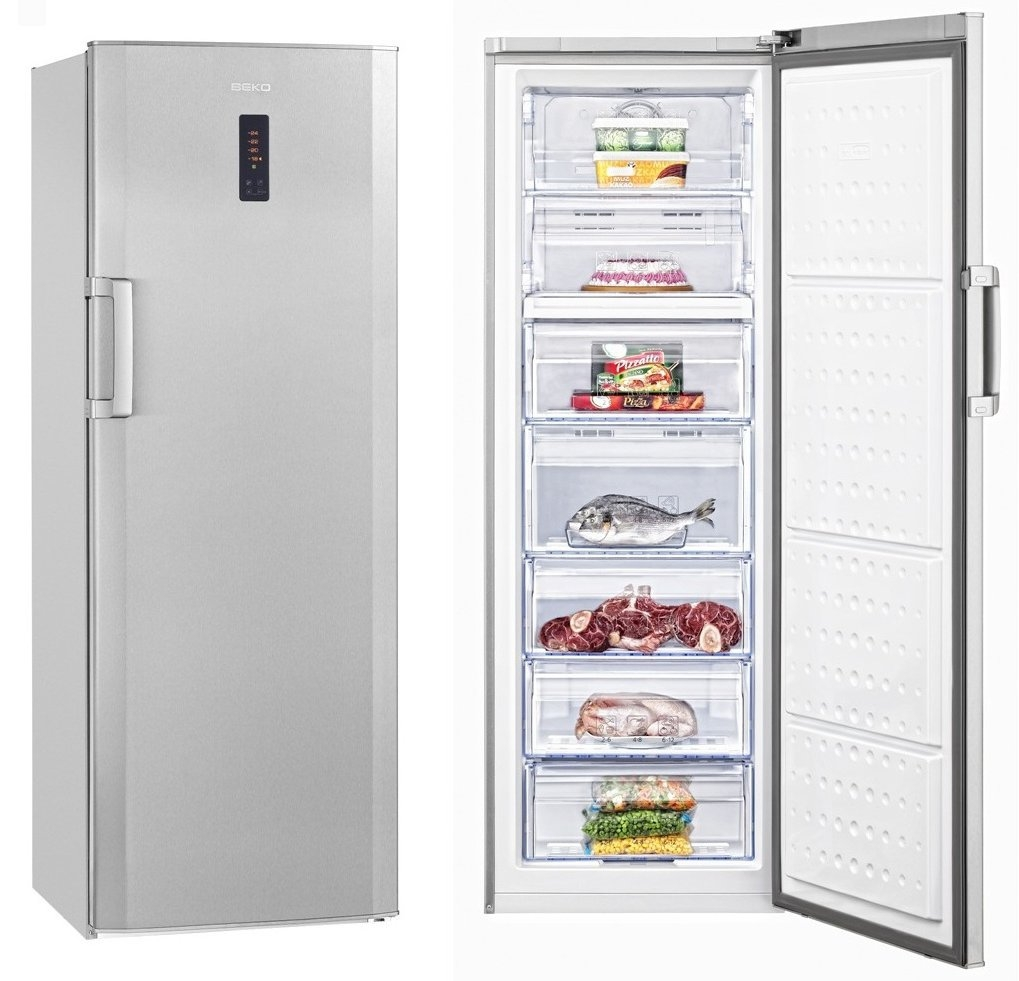 Congelador beko 185 x 60 inox atara electrodom sticos - Electrodomesticos con tara sevilla ...