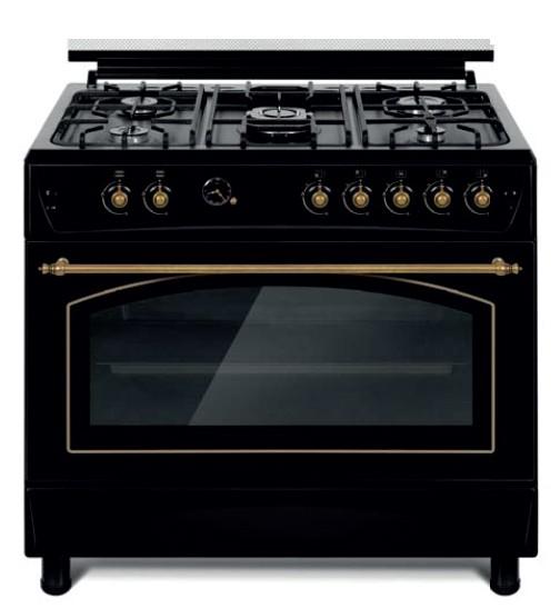 Cocina 5 fuegos 90x60cm gas negro atara - Electrodomesticos con tara sevilla ...