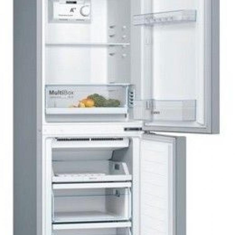 Combi Bosch KGN33NL3A, No Frost, A++, Libre instalación, 176x60x66cm, 279L., Puertas Acero mate antihuellas, Multibox. Tirador horizontal integrado