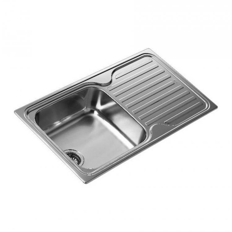 Fregadero inox Teka CLASSIC1C1EI, 1 seno, escurridor, reversible,