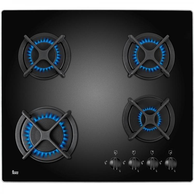 Encimera indep. Teka HFLUX604GAIALCINAT Gas natural Acabado sin marco Mandos frontales incorporados Superficie de vidrio templado Seguridad por termopar integrada en quemador individual Autoencendido integrado en quemador y accionado