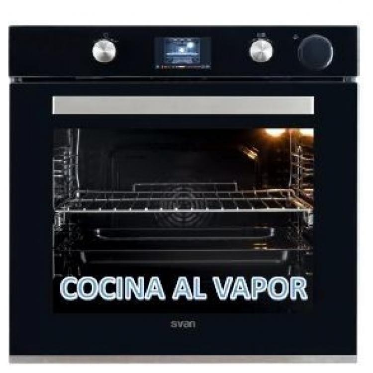 HORNO INDEPENDIENTE A VAPOR SVAN SVH850VAP CLA.A,75Ltr.NEGRO/INOX
