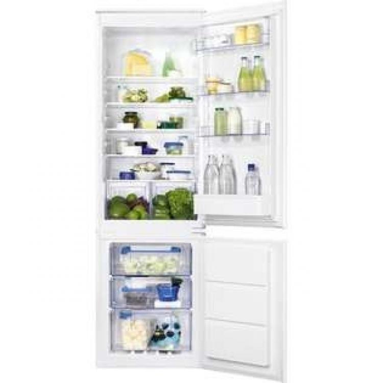Combi Zanussi ZBB28655SA . Frigorifico combi NO Frost en Congelador - A+ Integrable - Sistema de puerta de arrastre Hueco: 178 x 56 x 55 cm (alto x ancho x fondo)