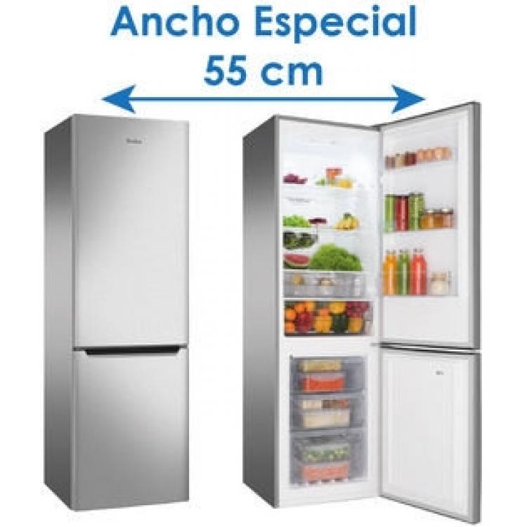 Combi Amica FK299.2FTZ.No Frost - A+  Puertas INOX - VitControl  180 x 55 x 59 cm (alto x ancho x fondo)