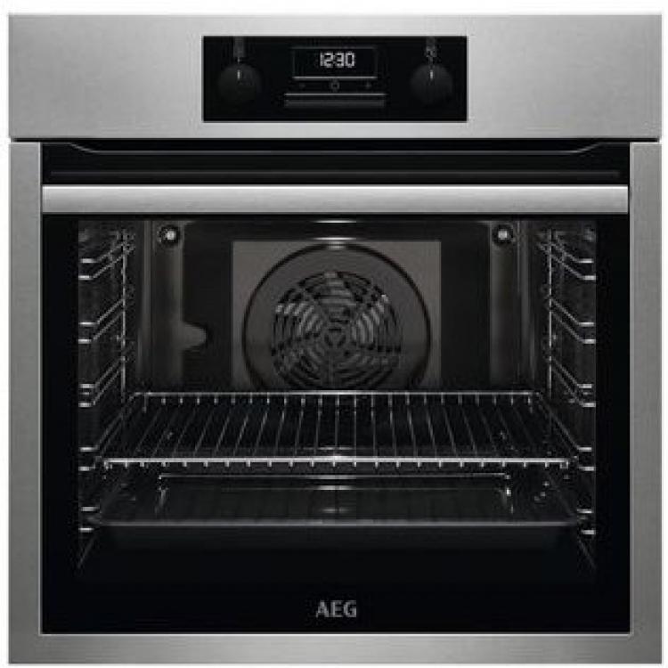 Horno AEG BES331111M. Horno multifuncion 9 - SurroundCook  Aqua Clean - Ventilador XXL - INOX antihuellas  Altura: 60 cm - Apertura abatible - Carriles telescopicos 1