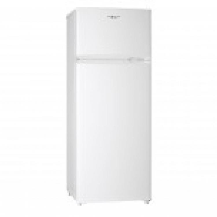 Frigorifico 2 puertas Nevir NVR4354DD , 141,5 x 55 x 58 cm, Puerta reversible. Termostato regulable. Bandejas de cristal regulables en altura. Puerta con balconeras. Cajón verdulero (2 compartimentos). Patas regulables en altura. Libre de CFC. Clase