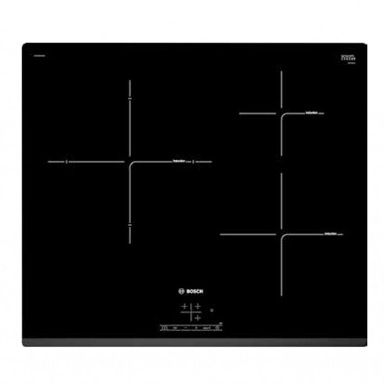 ENCIMERA IND BOSCH PUJ631BB2E 60 cm, 3 zonas, Color Negro, Bisel del antero, TouchSelect, Zona de 28 cm.
